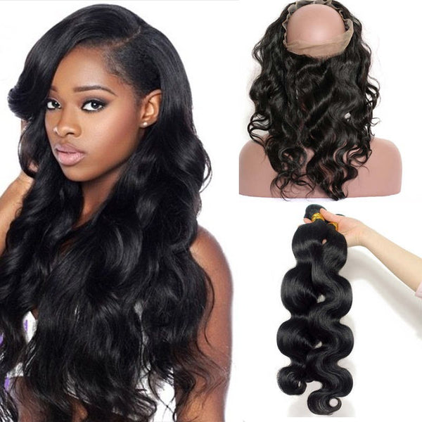 Brazilian Wavy 360 Lace Frontal