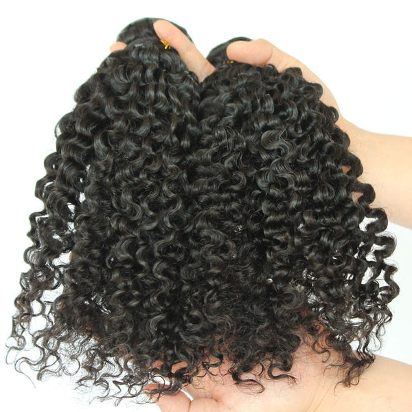 "Cambodian Natural 3C Curly 13""x6"" Lace Frontal"