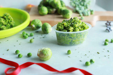 Brussels Sprout and Pea Purée