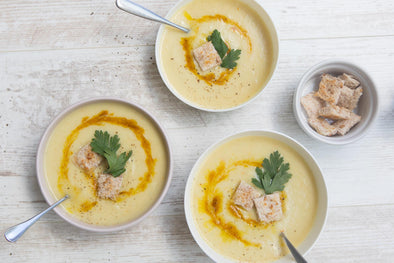 Curried Parsnip and Pear Soup