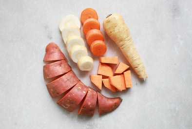 Sweet Potato, Carrot & Parsnip Purée