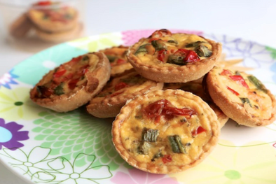 Mini vegetable quiche