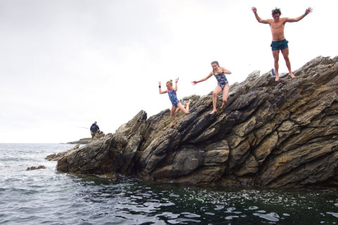 Jumping off the pier
