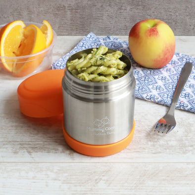 Orange Food Flask