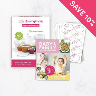 Starter Weaning Set with Recipe Book & Labels