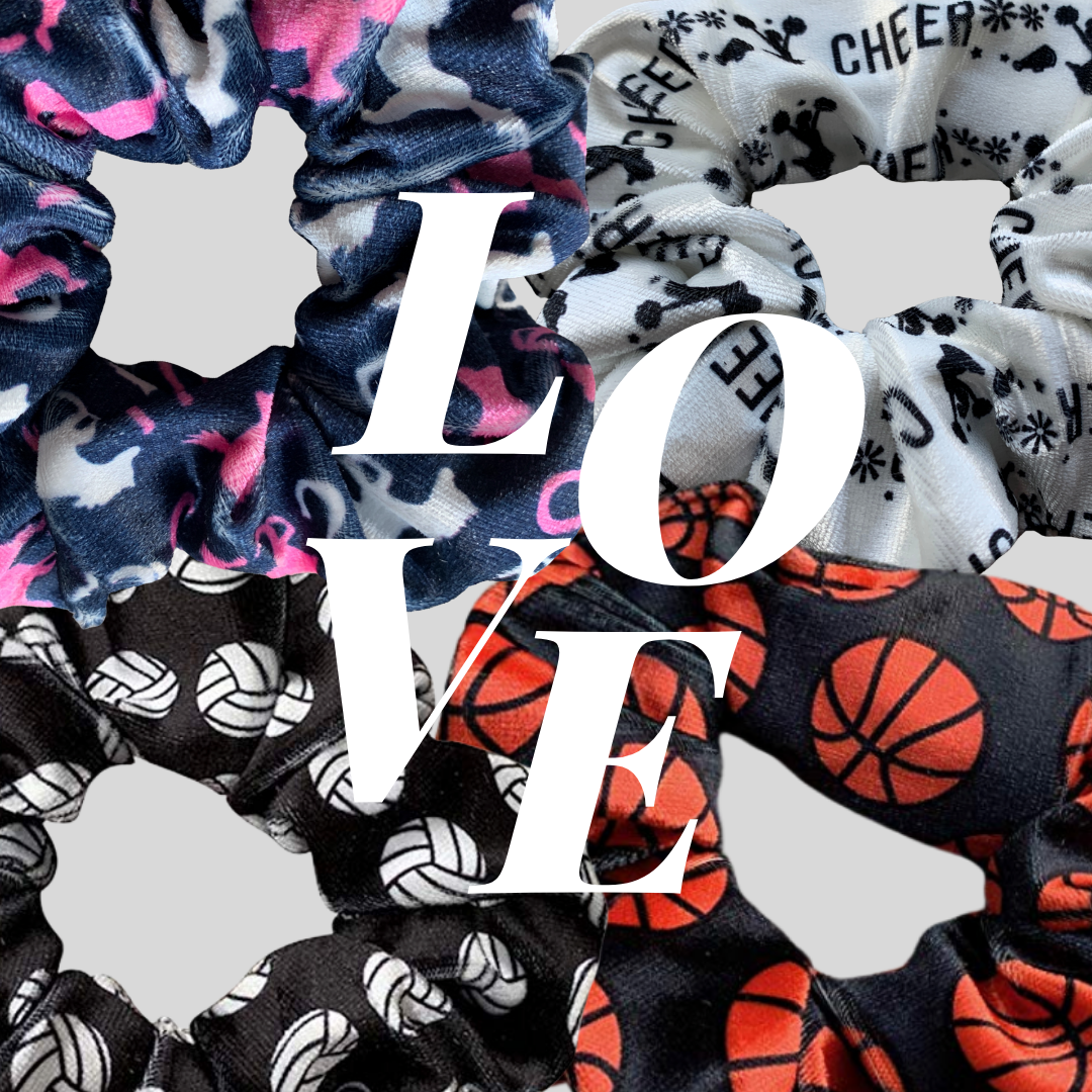 Sports Scrunchies Now Available!