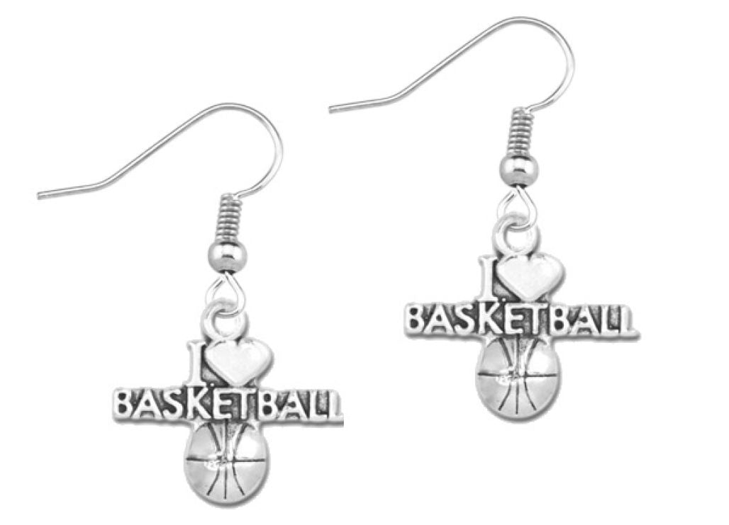 Basketball Necklace & Earrings
