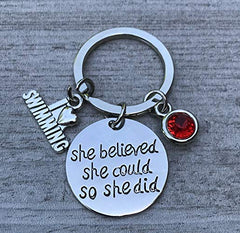 personalized swim keychain