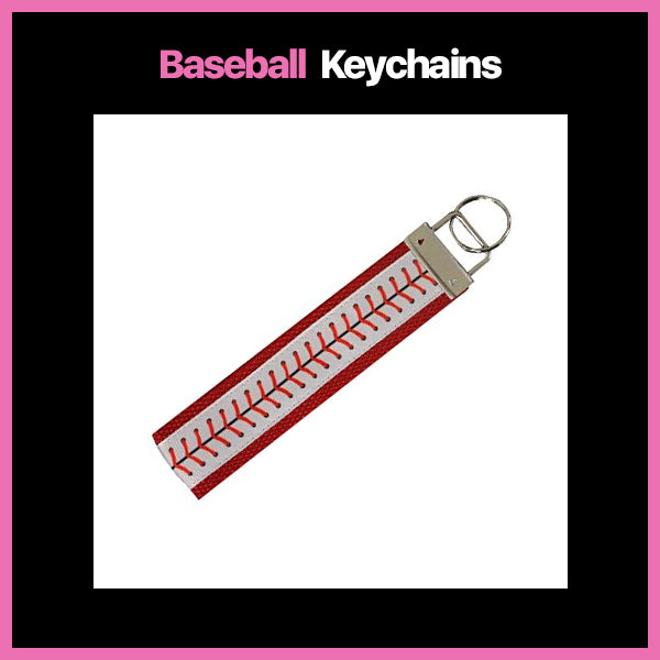 girls baseball keychains