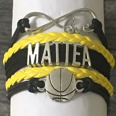 custom basketball bracelet