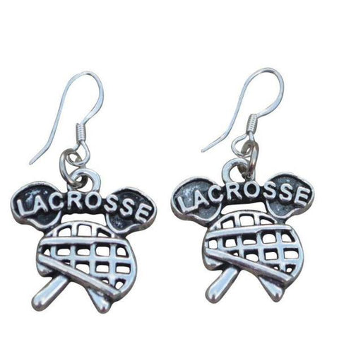 Girls Lacrosse Earrings Gift For Lacrosse Players - Sportybella