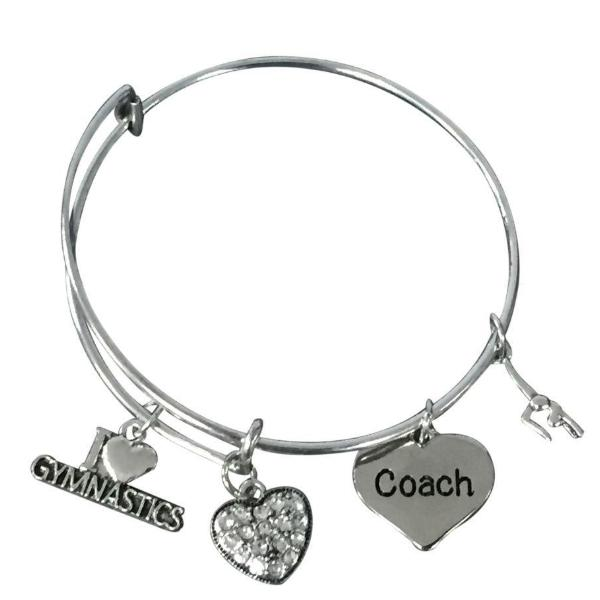 Gymnastics Coach Bangle Bracelet - Sportybella