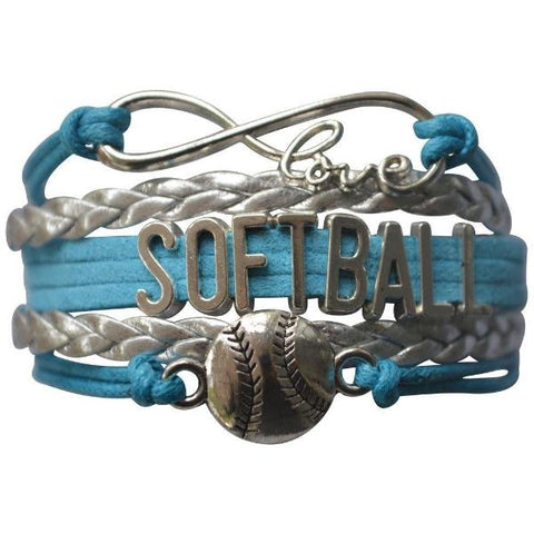 Girls Softball Infinity Bracelet - Sportybella