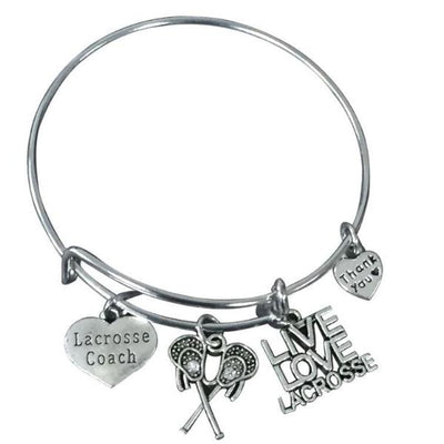 Lacrosse Coach Bangle Bracelet - Sportybella