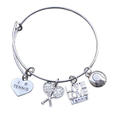 Girls Tennis Bangle Bracelet - Sportybella