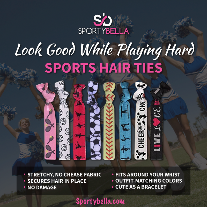 Lacrosse Hair Ties - Purple