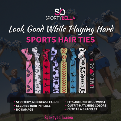Volleyball Hair Ties -Blue