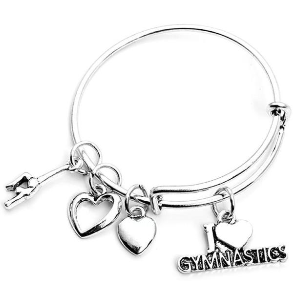 Girls Gymnastics Bangle Bracelet - Sportybella