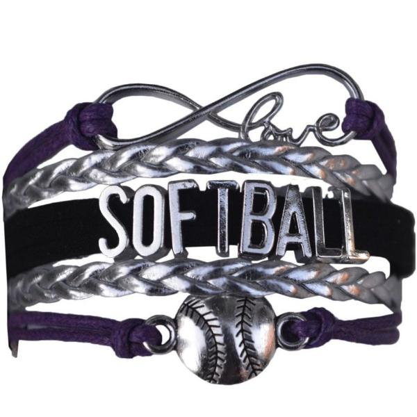 Softball Bracelet- Purple - Sportybella