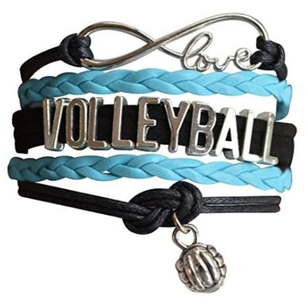 Girls Volleyball Infinity Bracelet - Sportybella