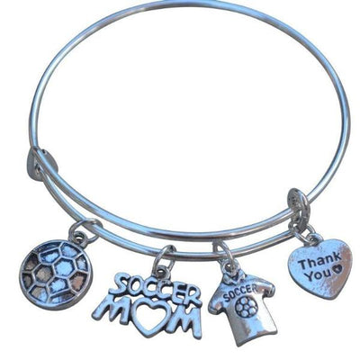Soccer Mom Bangle Bracelet - Sportybella