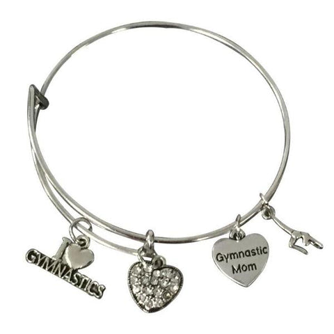 Gymnastics Mom Bangle Bracelet - Sportybella