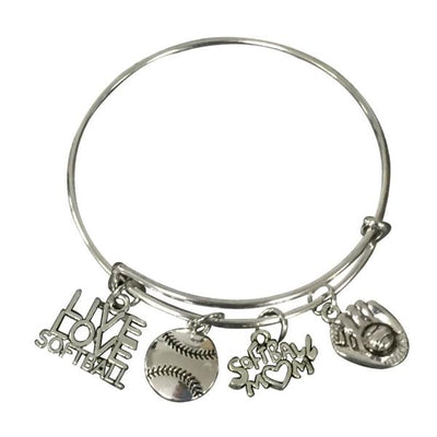 Softball Mom Bangle Bracelet - Sportybella