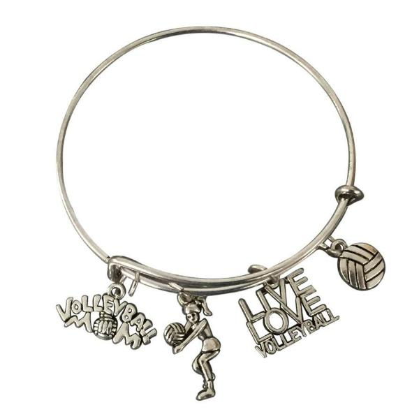 Volleyball Mom Bangle Bracelet - Sportybella