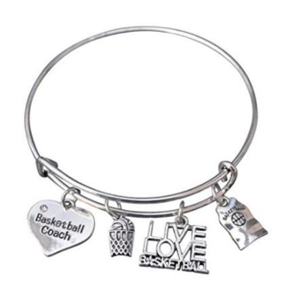 Basketball Coach Bangle Bracelet - Sportybella