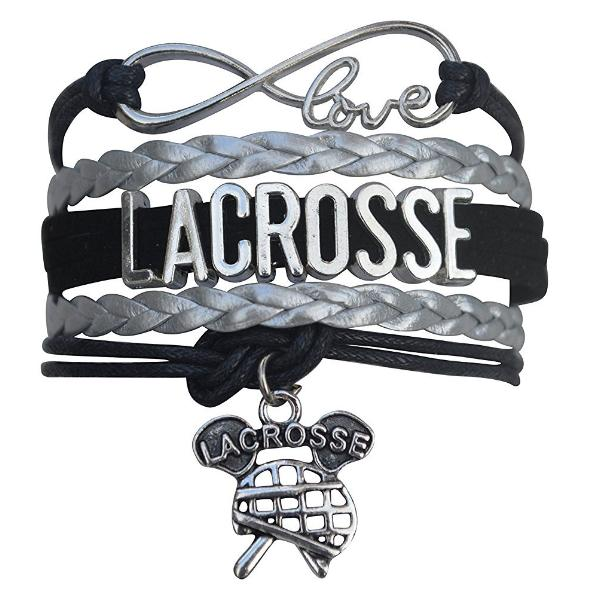 Girls Lacrosse Infinity Bracelet For Lacrosse Players - Sportybella