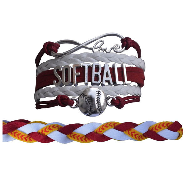 Softball Jewelry Set For Girls (Bracelet & Headband) - Sportybella