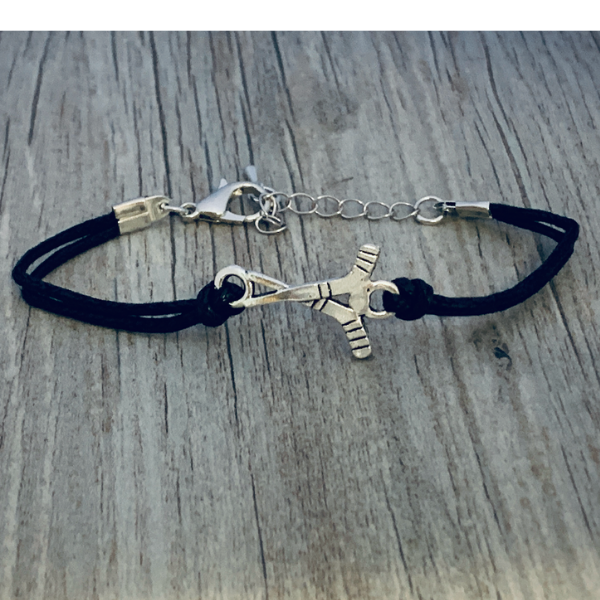 Ice Hockey Black Bracelet