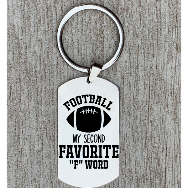 Personalized Engraved Football Keychain