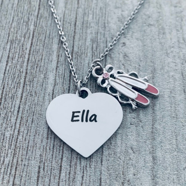 Personalized Runner Keychain with FREE Letter Charm