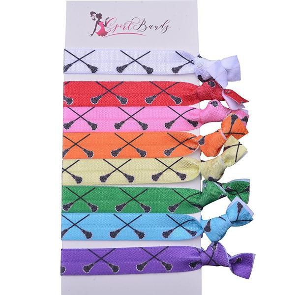 Lacrosse Hair Ties Set- Multi Colored - Sportybella