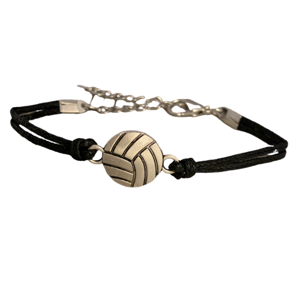 Volleyball Black Bracelet