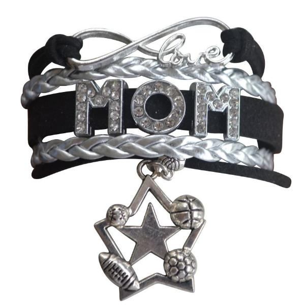 Sport Mom Bracelet - Football, Baseball, Soccer & Basketball Mom - Sportybella