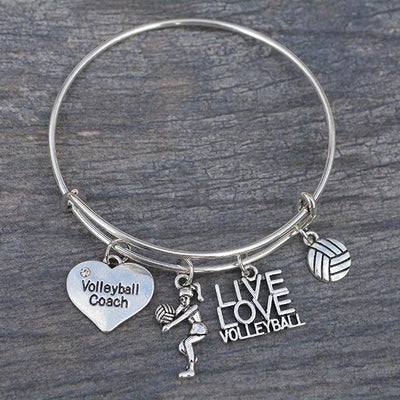Volleyball Coach Bangle Bracelet - Sportybella