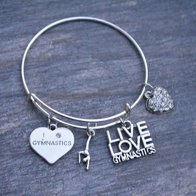 Gymnastics Bangle Bracelet - Sportybella