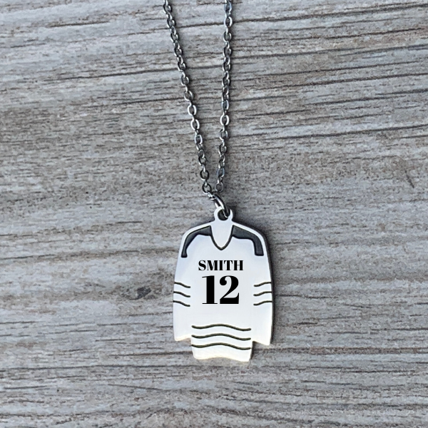 Personalized Engraved Ice Hockey Necklace