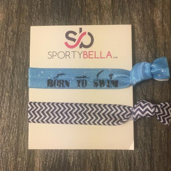 Girls Swim Hair Ties - 2pc - Sportybella