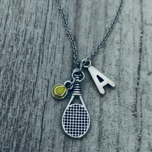 Personalized Tennis Charm Necklace
