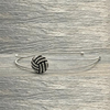 Volleyball Rhinestone Headband - Silver