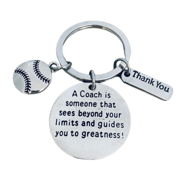Baseball Coach Keychain- Sees Beyond Your Limits