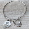 Personalized Engraved Football Mom Bracelet