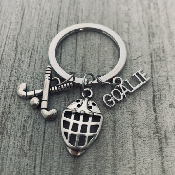 Field Hockey Goalie Keychain