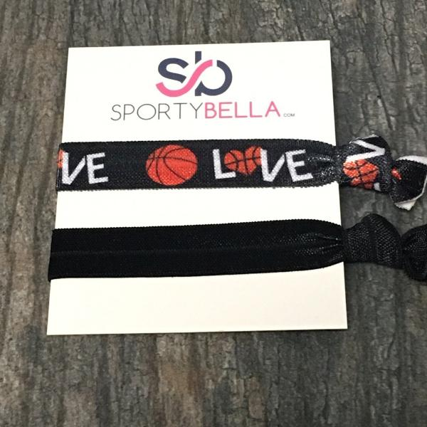 Basketball Hair Ties- 2pc - Sportybella