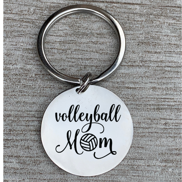 Volleyball Mom Keychain