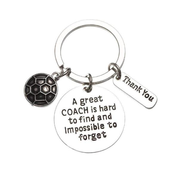 Soccer Coach Keychain, Great Coach is Hard to Find