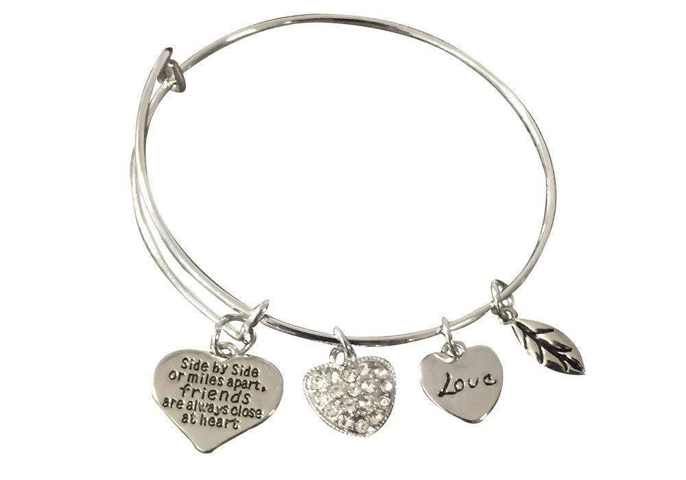 Best Friends Bracelet-Side By Side or Miles Apart Friends are Close at Heart - Sportybella
